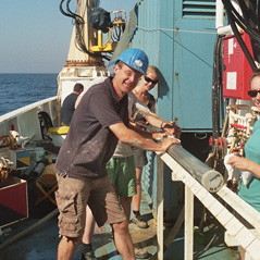 Sediment core from Mediterranean Sea